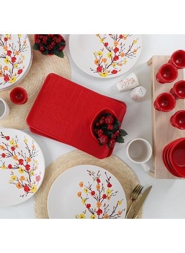 Keramika Keramika Sonbahar Tomurcuk Kahvaltı Takımı 28 Parça 6 Kişilik Renkli